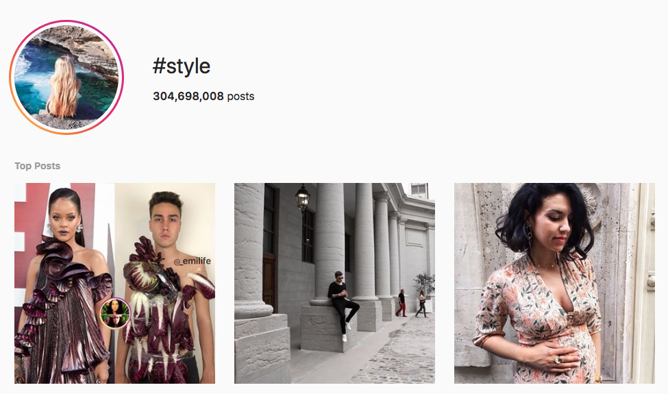 #style top instagram hashtags