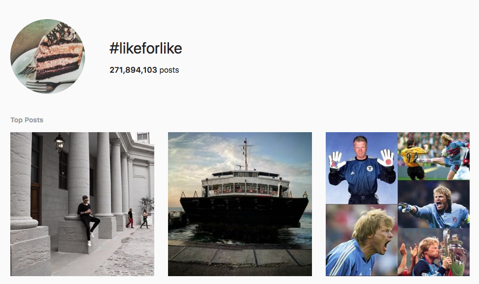#likeforlike top instagram hashtags