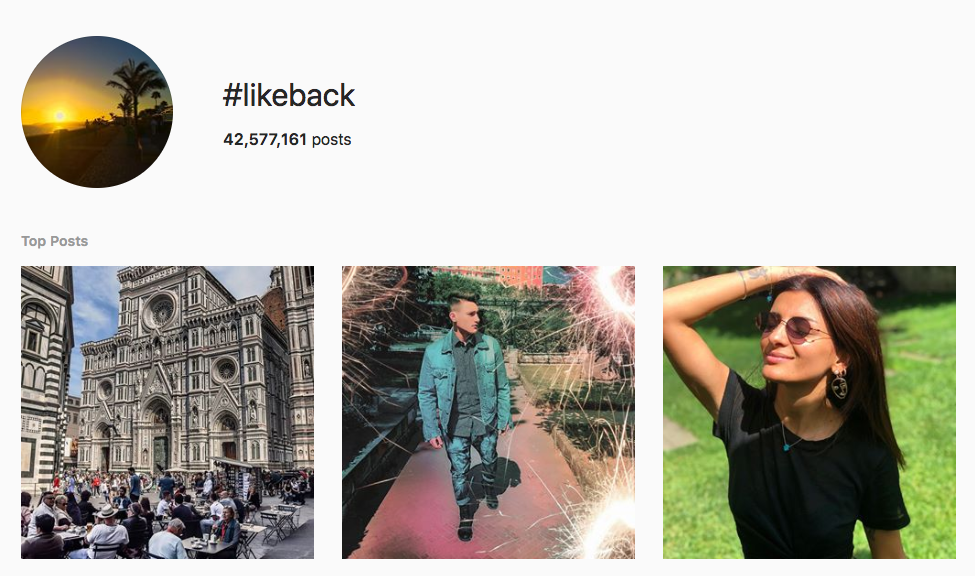 #likeback top instagram hashtags