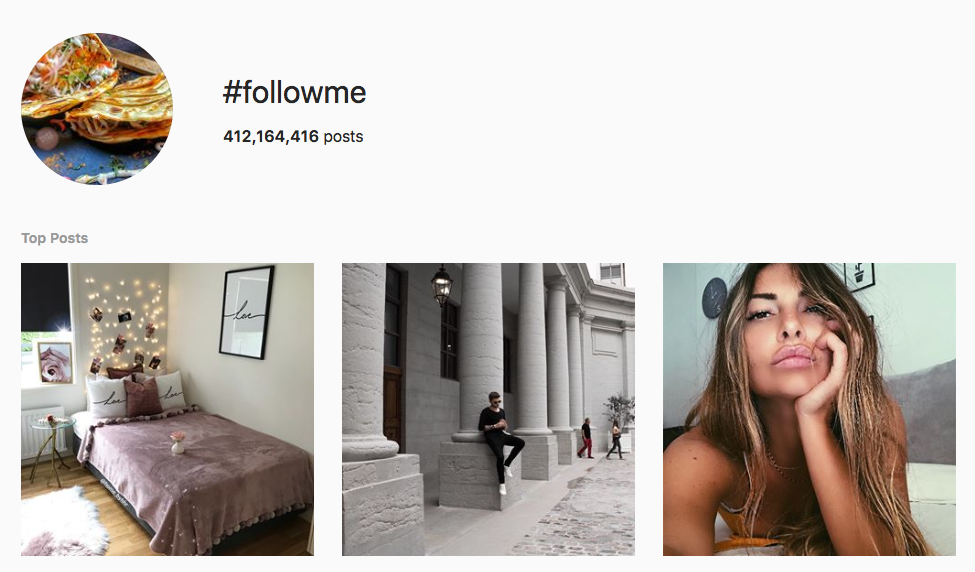 #followme top instagram hashtags