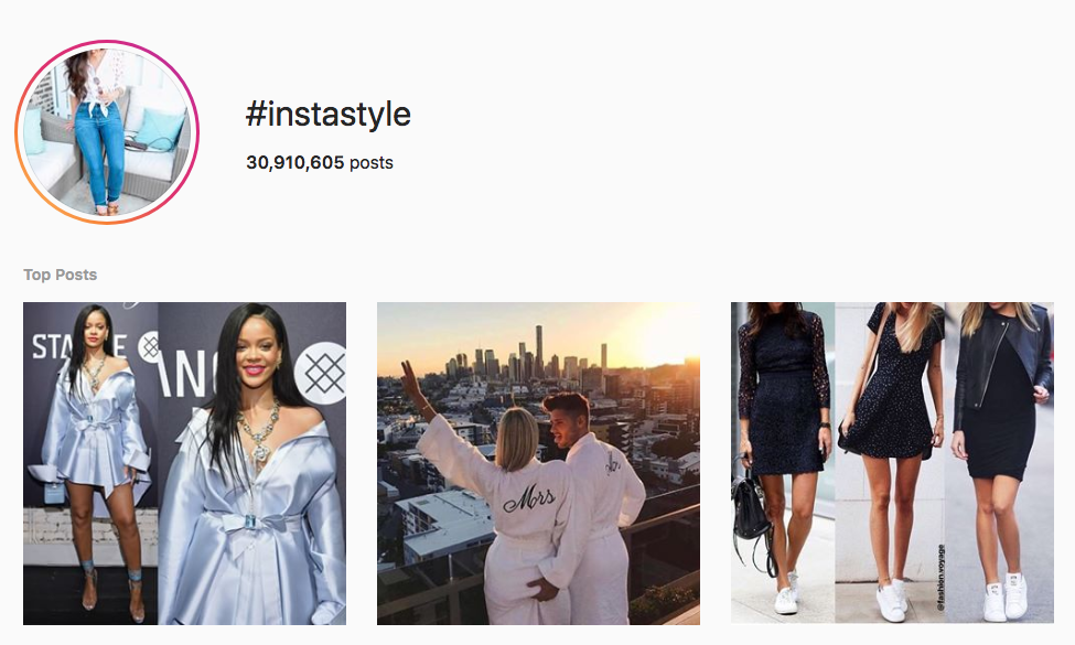 #instastyle top instagram hashtags