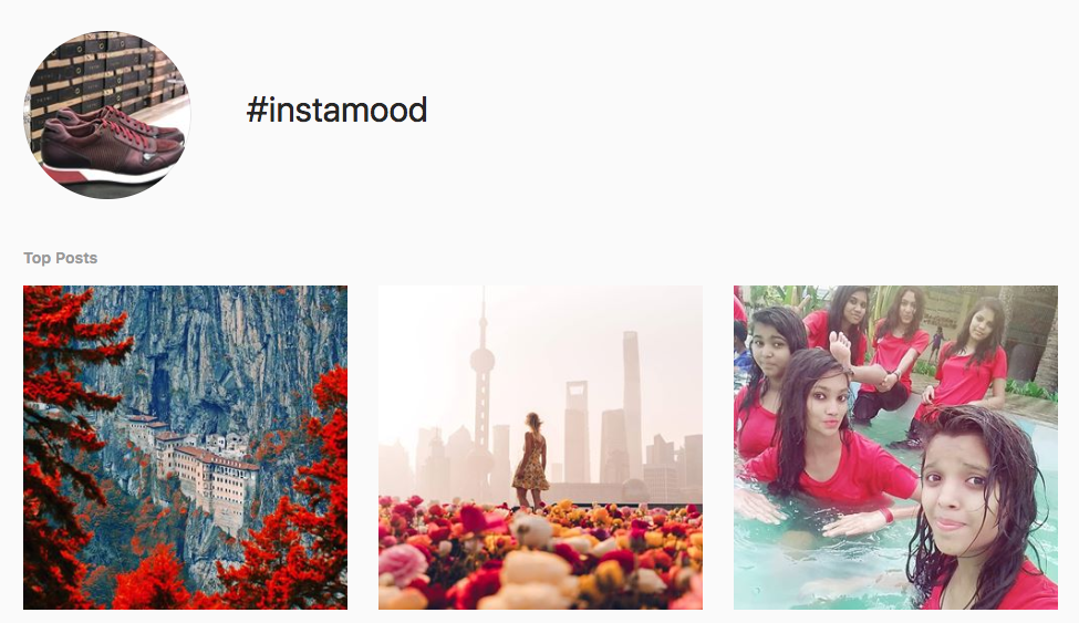 #instamood top instagram hashtags