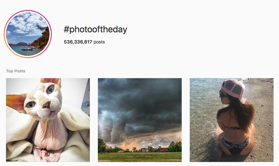#photooftheday top instagram hashtags