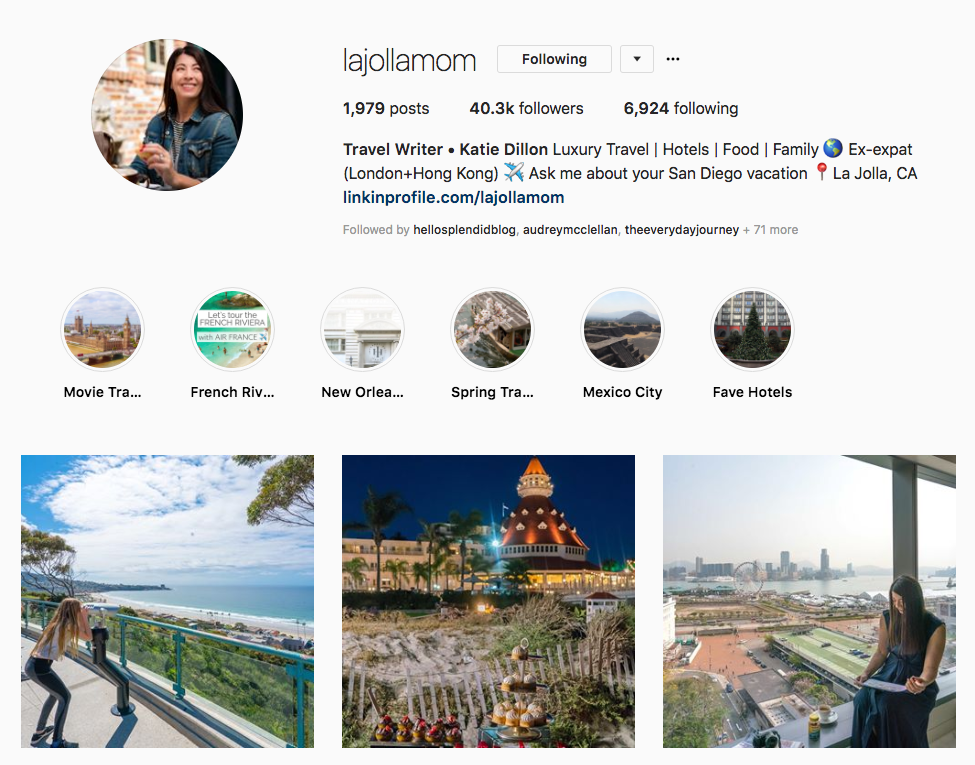 Travel Writer • Katie Dillon hotel influencers