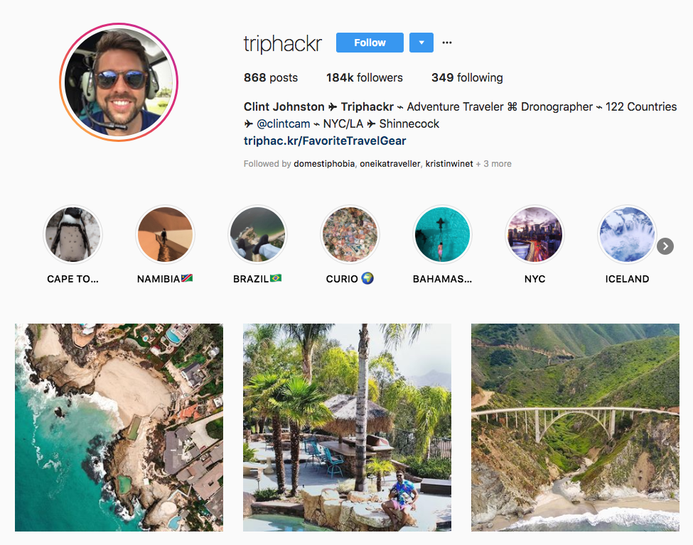 Clint Johnston ✈ Triphackr hotel influencers