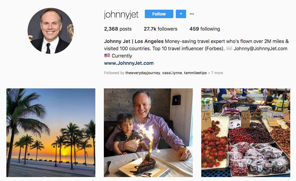 Johnny Jet hotel influencers