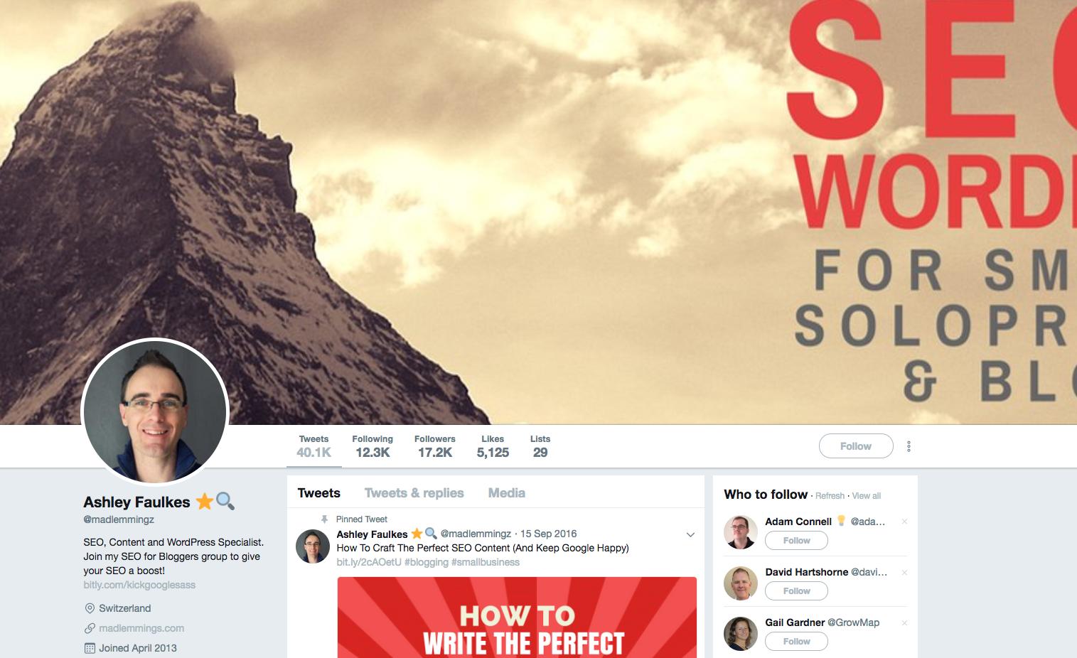 Ashley Faulkes top social media marketing influencers