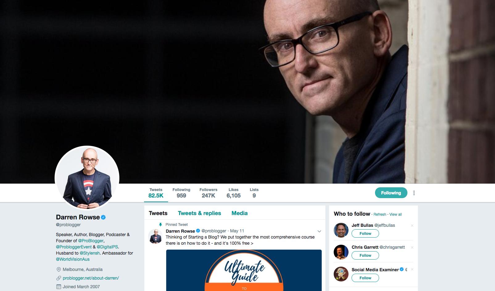 Darren Rowse top social media marketing influencers