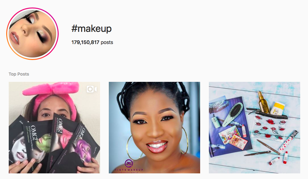 #makeup beauty hashtags