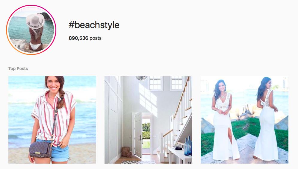 #beachstyle beach hashtags