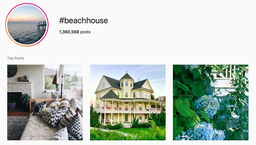 #beachhouse beach hashtags