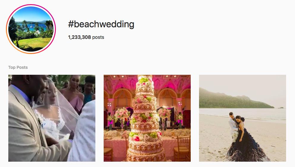 #beachwedding beach hashtags