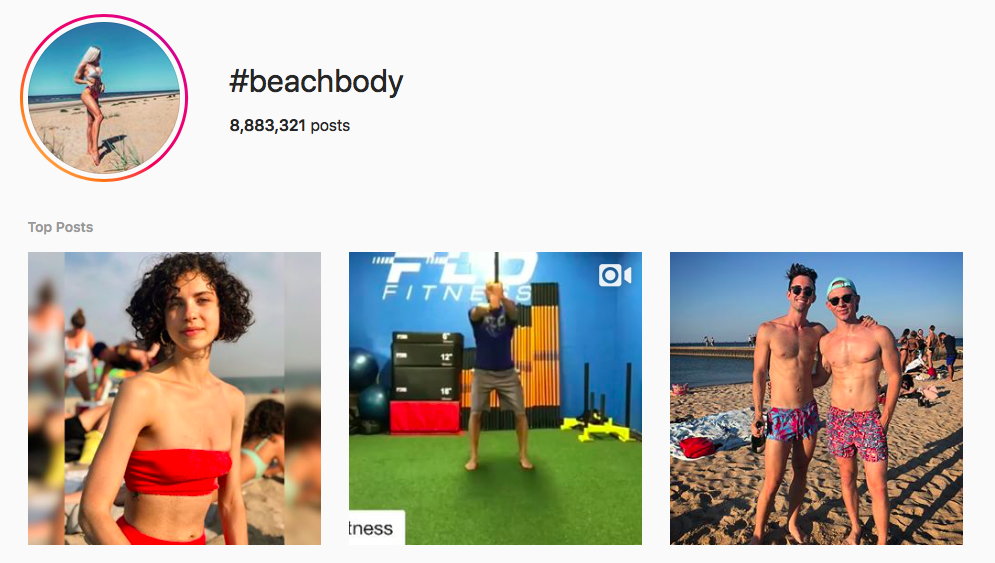 #beachbody beach hashtags