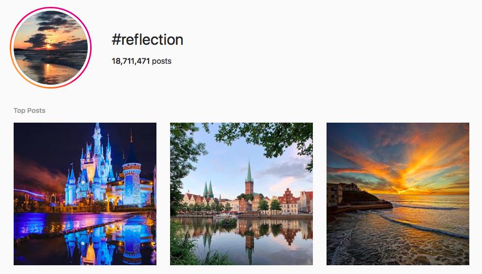 #reflection beach hashtags