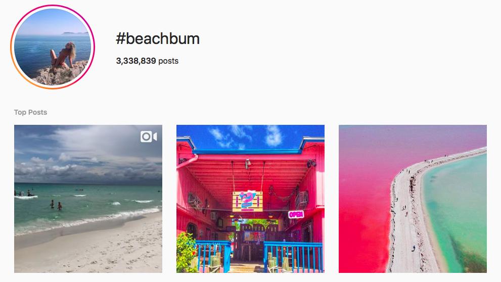 #beachbum beach hashtags