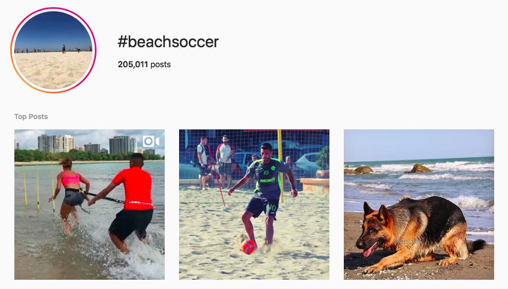 #beachsoccer beach hashtags