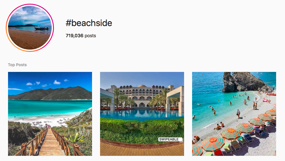 #beachside beach hashtags