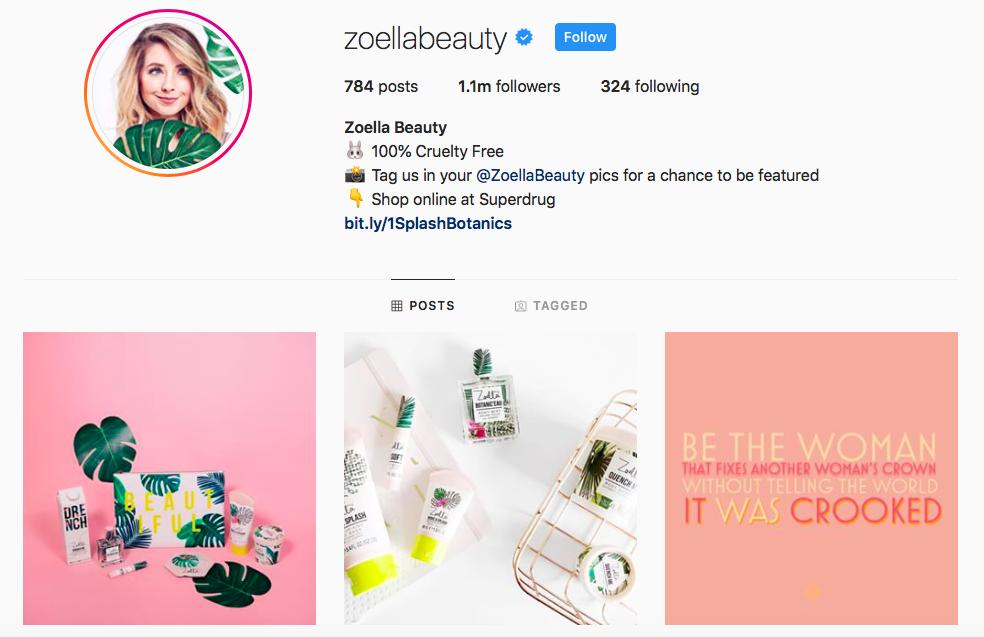 Zoella Beauty Top IGTV Channels