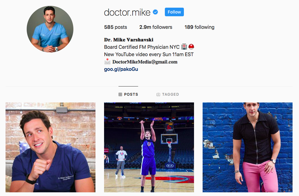 Doctor Mike IGTV Channels