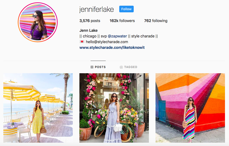 Jennifer Lake top Chicago Influencers