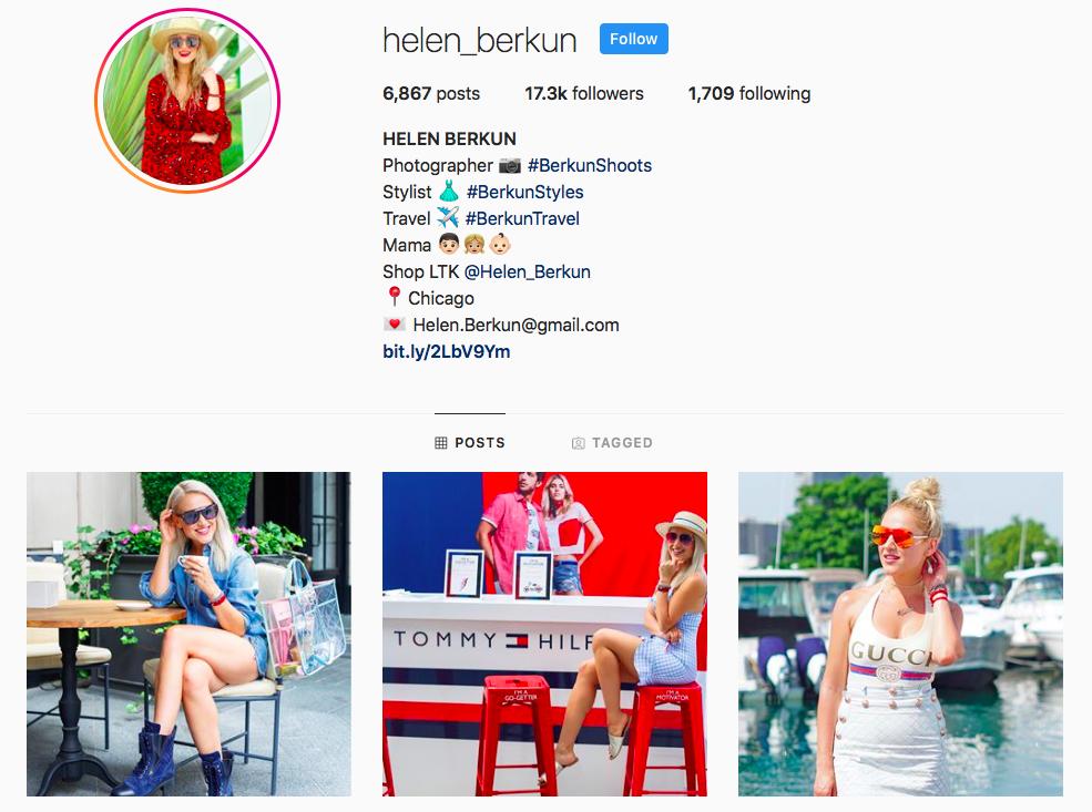 Helen Berkun top Chicago Influencers