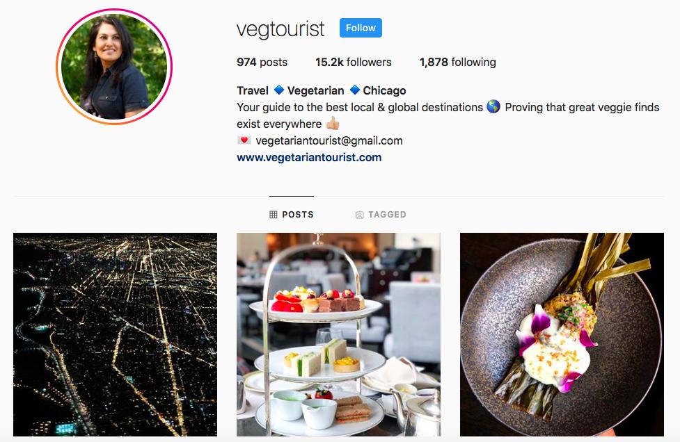 Vegetarian Tourist top Chicago Influencers