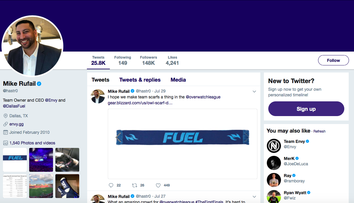 Mike Rufail top eSports Influencers