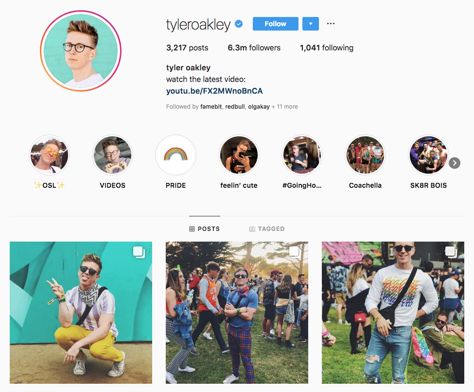 tyler oakley principali influencer sui social media di Los Angeles