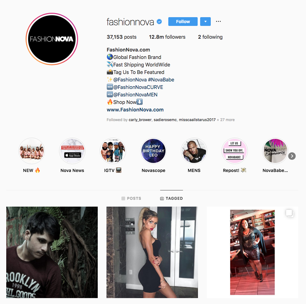 Fashion Nova Influencer Marketing KPIs