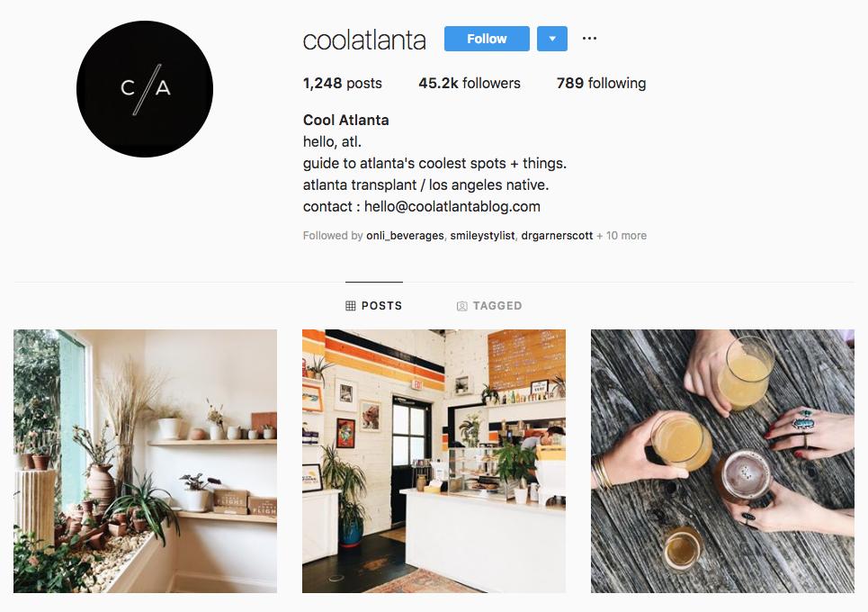 Cool Atlanta top Atlanta social media influencers