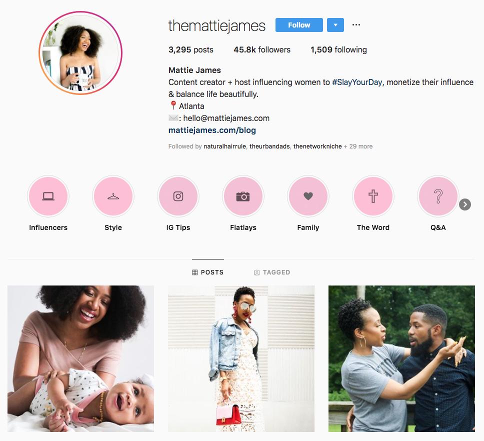 Mattie James top Atlanta social media influencers