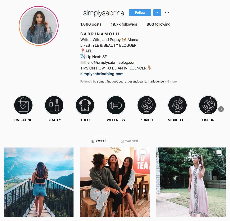 simply sabrina top Atlanta social media influencers