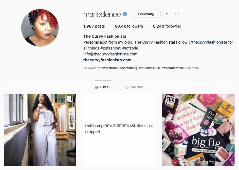 The Curvy Fashionista top Atlanta social media influencers