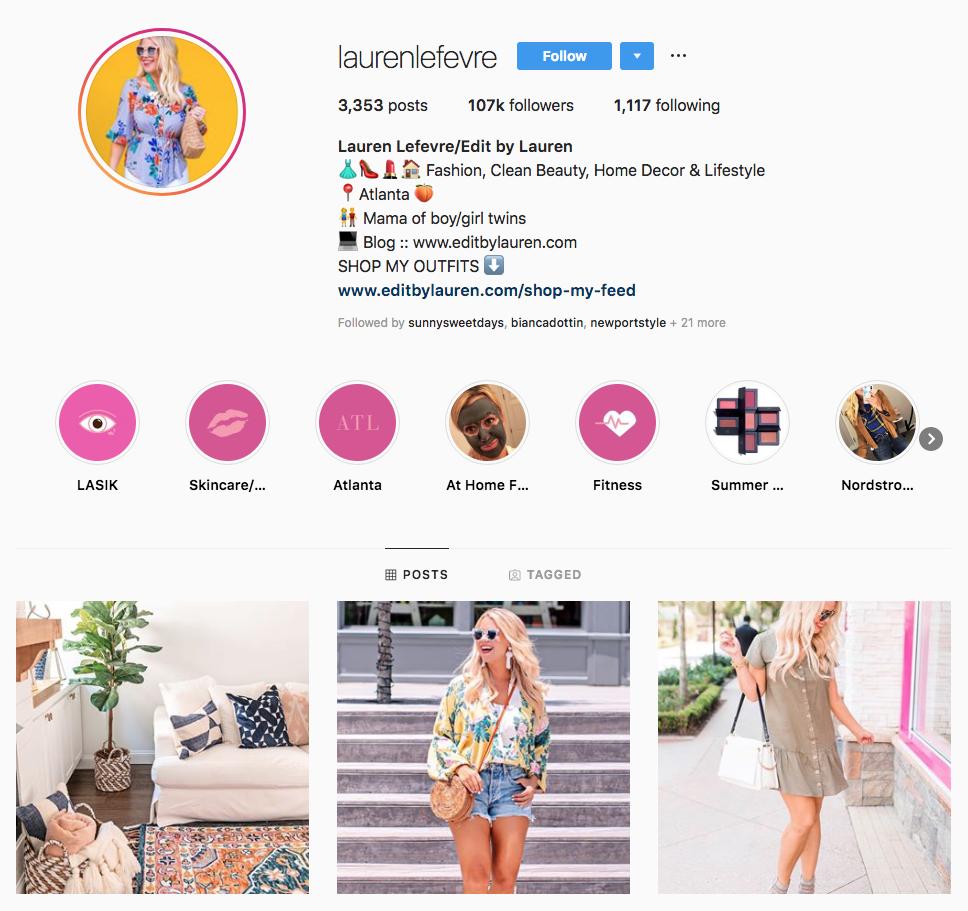 Lauren Lefevre top Atlanta social media influencers