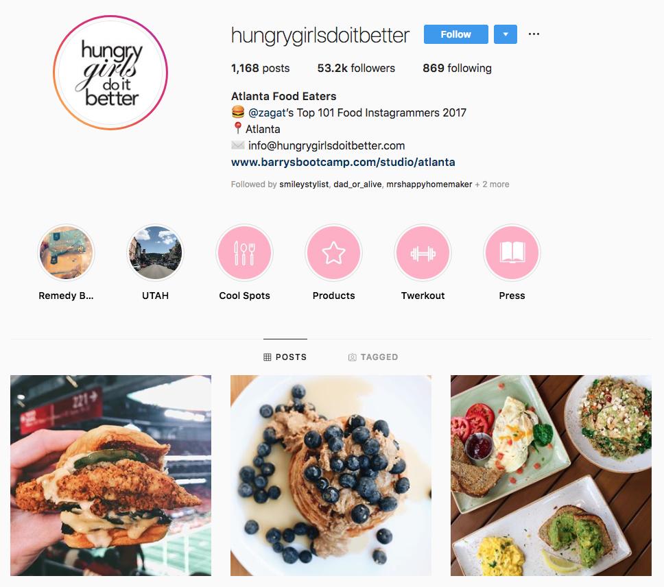 hungry girls do it better top atlanta social media influencers