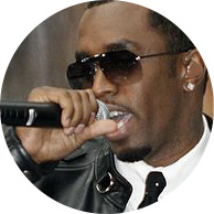 "Sean ""Diddy"" Combs black suite sunglasses microphone"