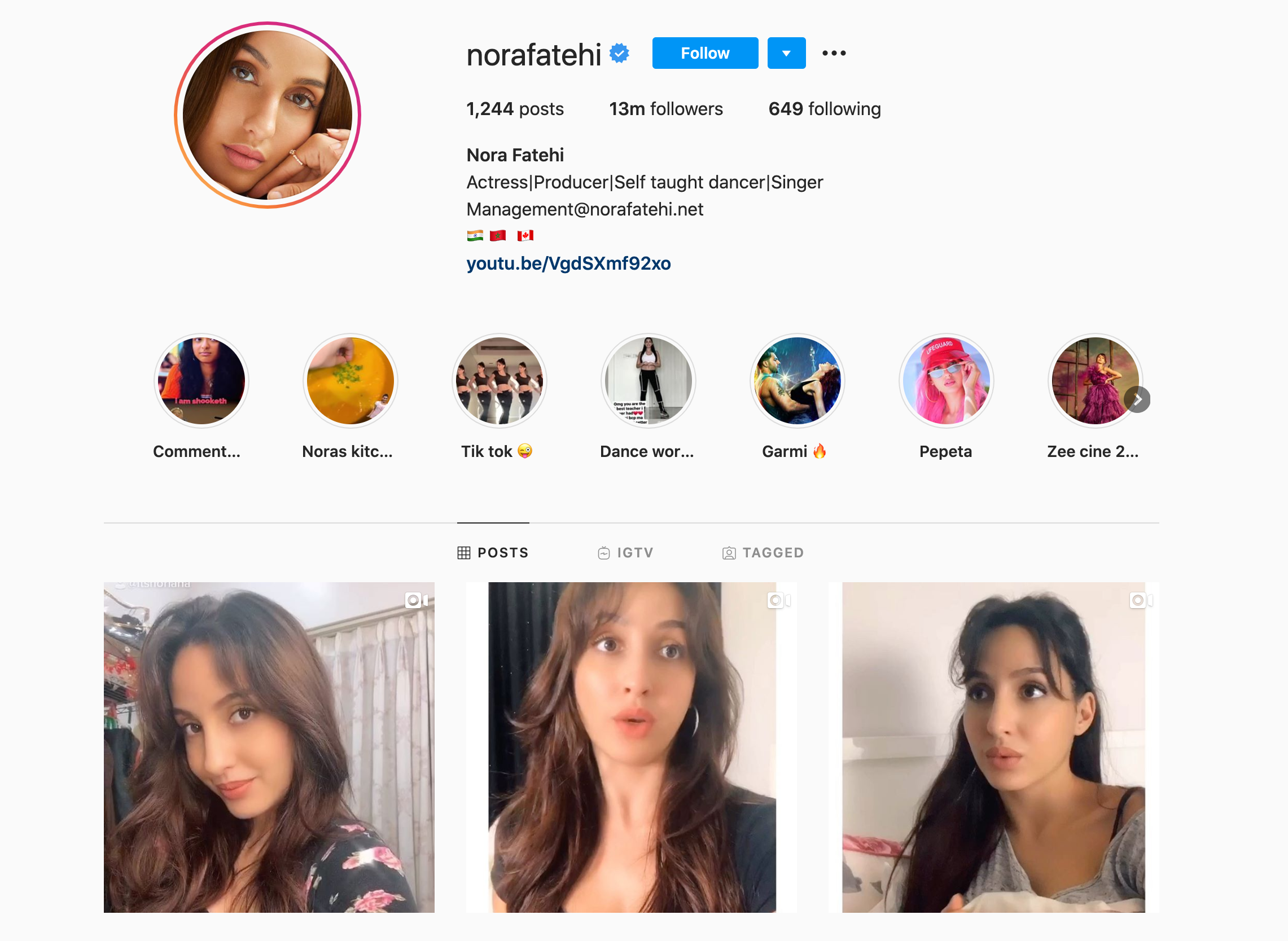 nora fatehi entertainment influencer