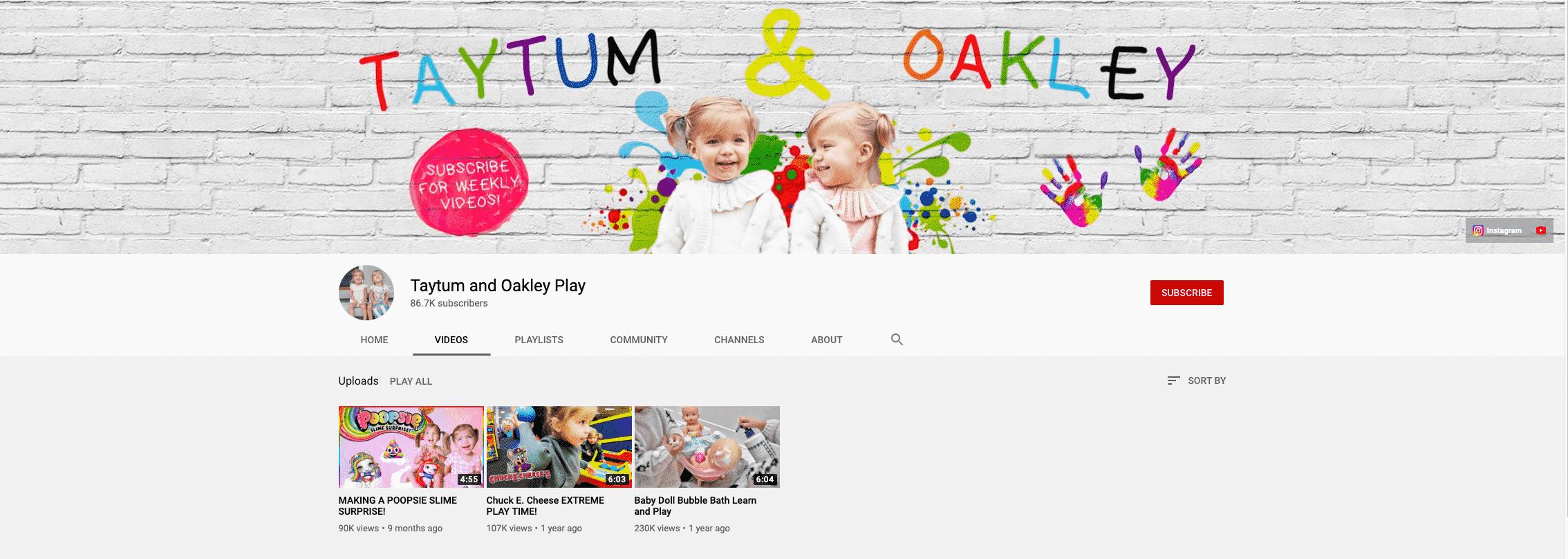Taytum and Oakley Fisher Kid Influencer