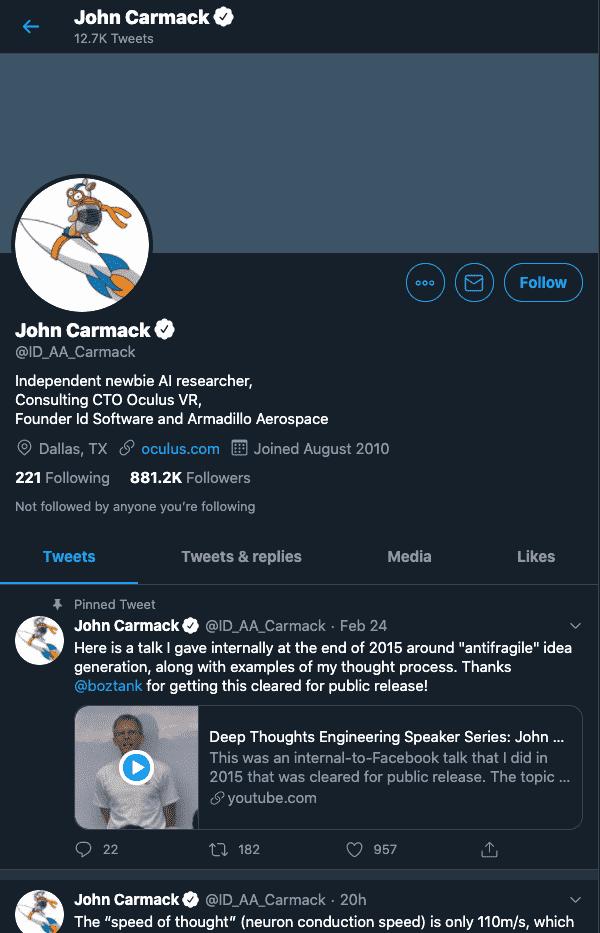 John Carmack - VR Influencer