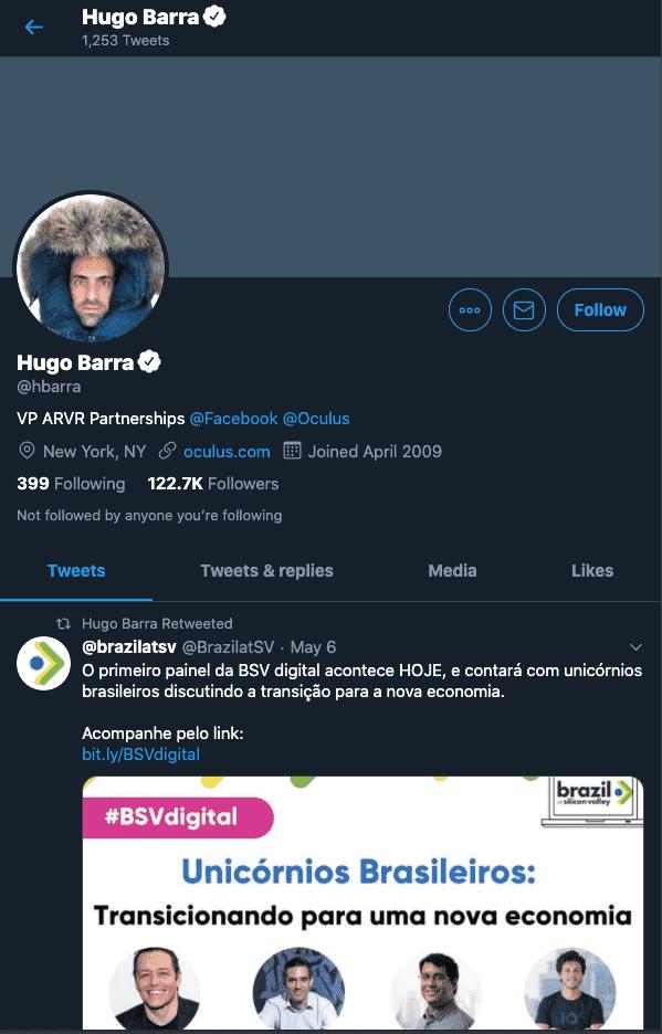 Hugo Barra - VR Influencer