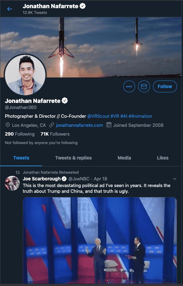 Jonathan Nafarrete - VR Influencer