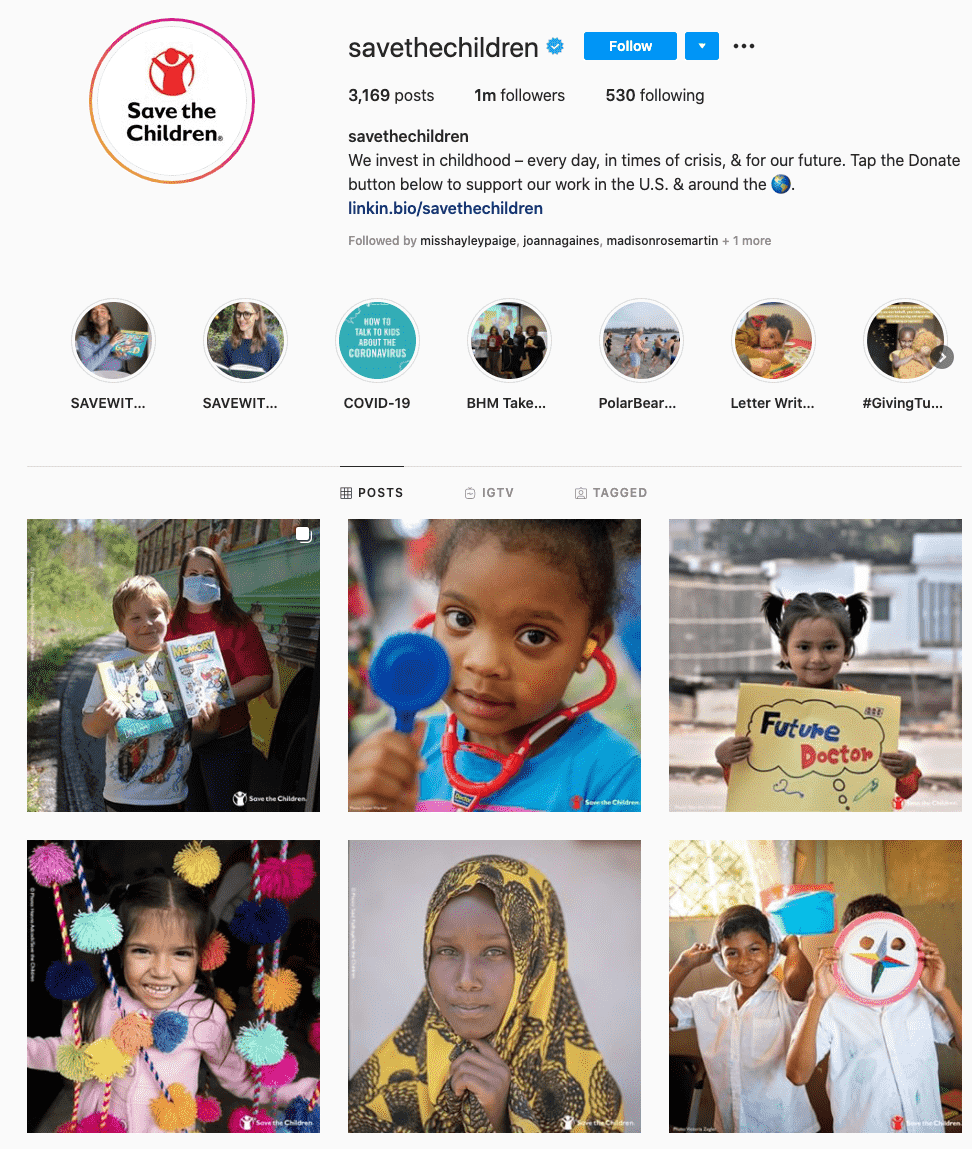 save the children-charity influencers
