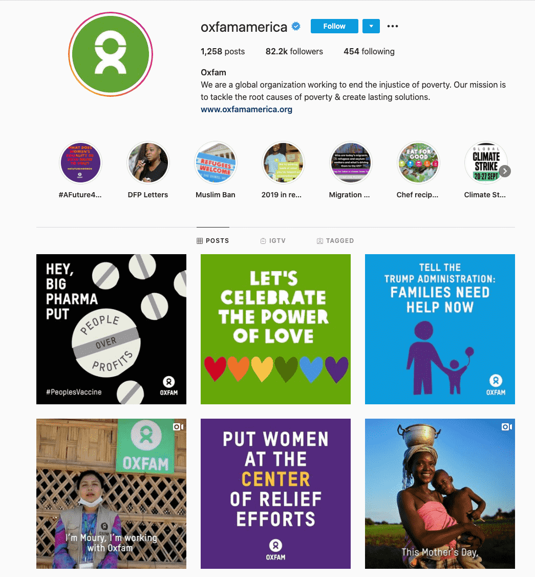 oxfam-charity influencers