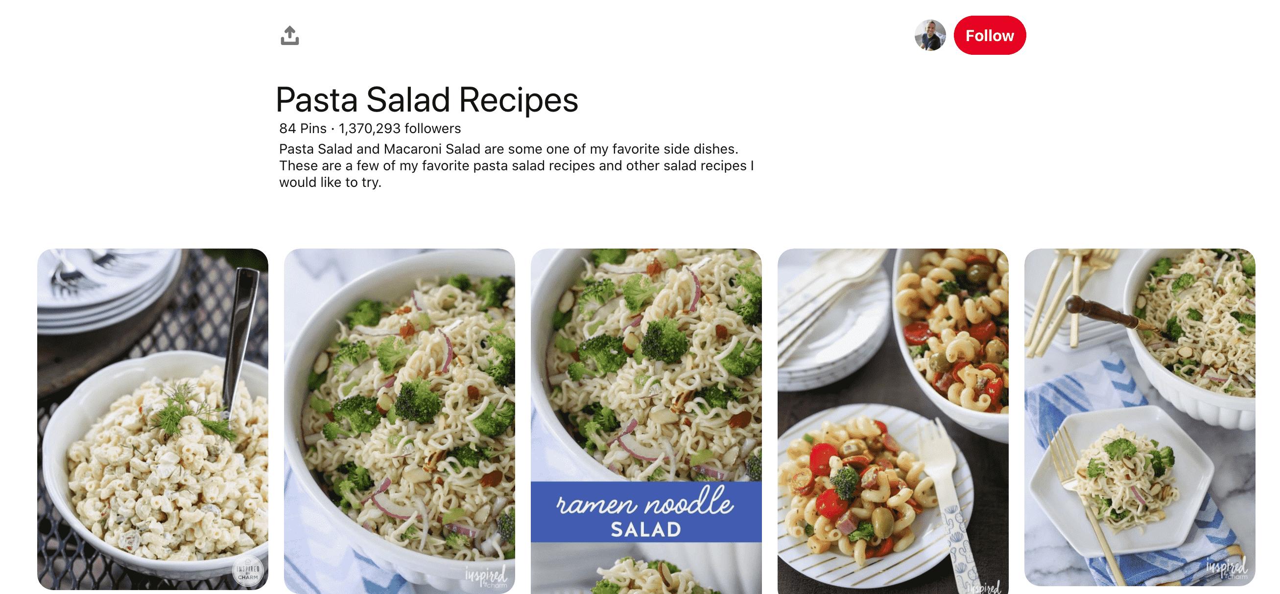 Pasta Salad Board