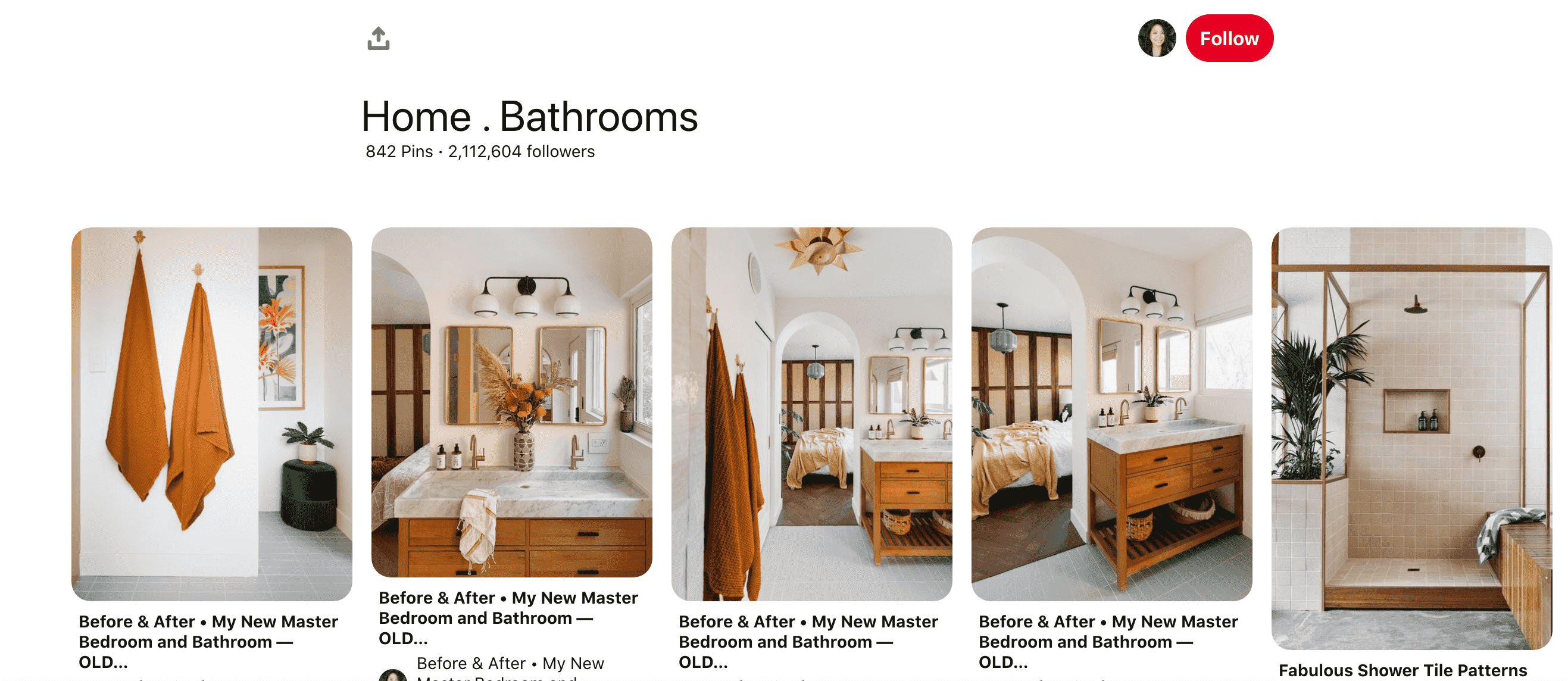 Home- Bathroom Board