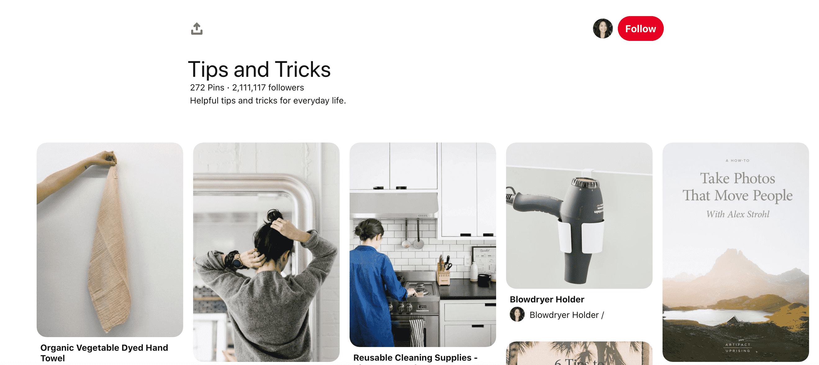 Tips & Tricks Board