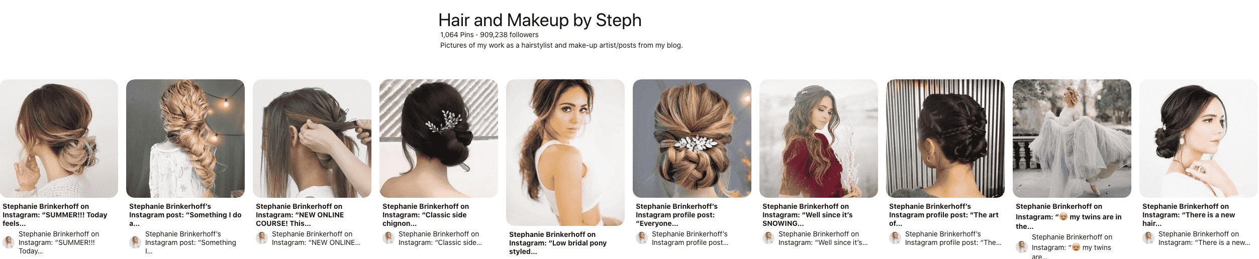 Hair & Makeup Board
