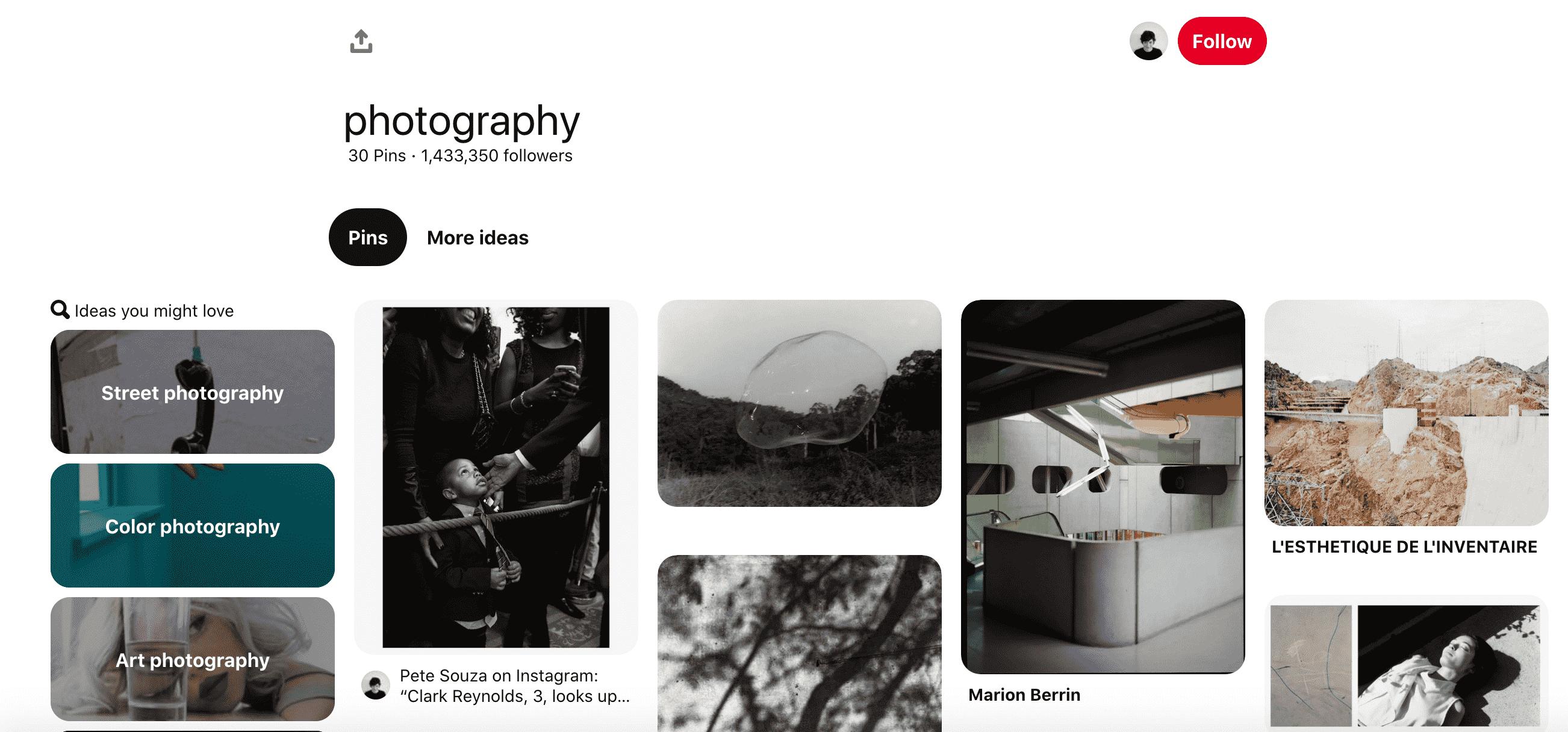 photography board