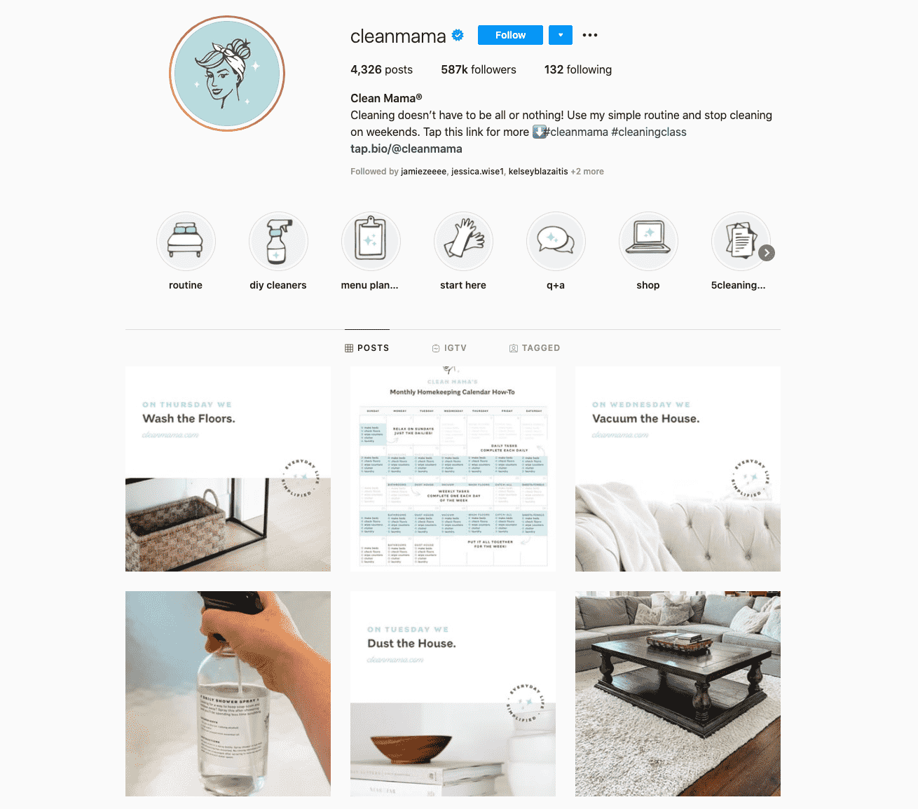 House and Home Cleaning Influencers