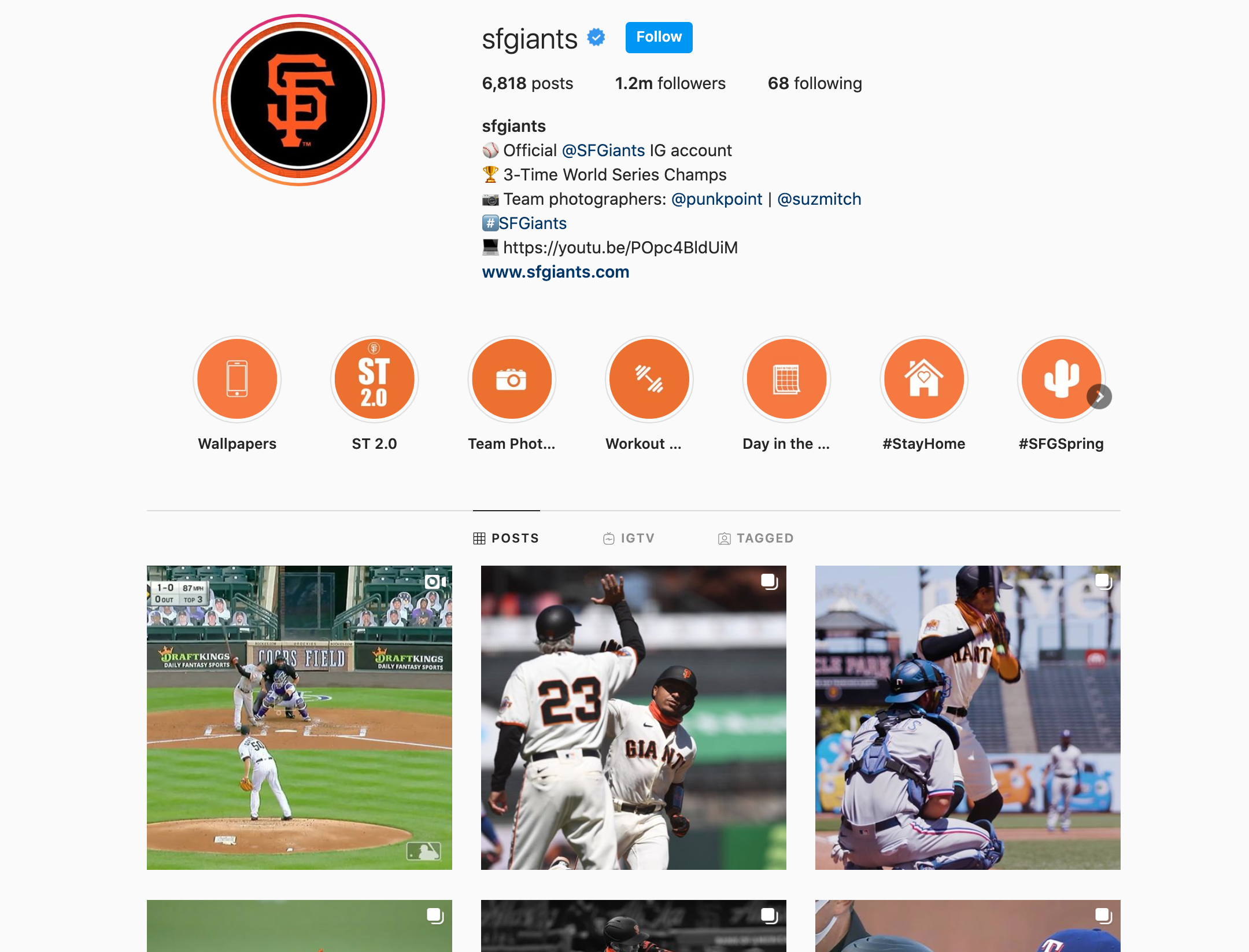 san francisco giants instagram